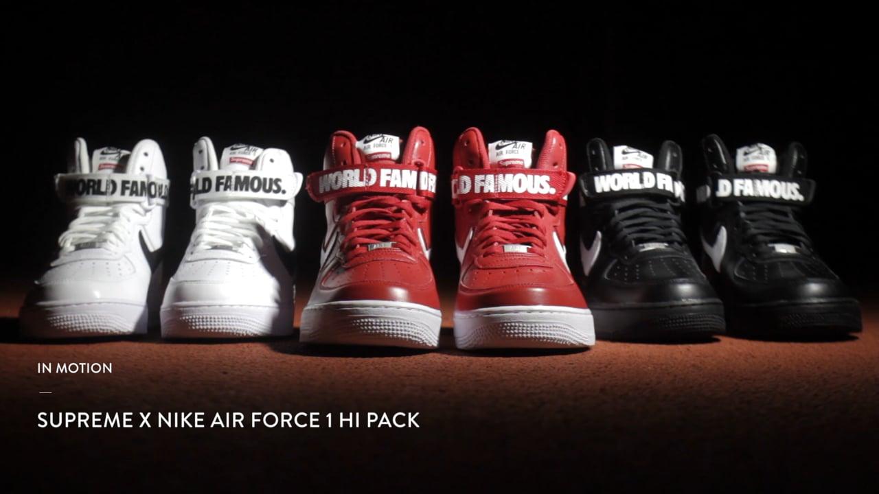 IN MOTION: Supreme x Nike AF1